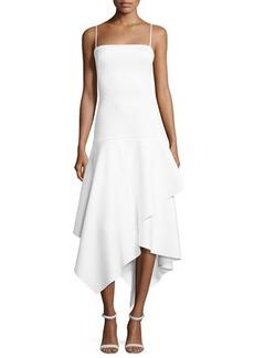 Black Halo Reynolds Sleeveless Tiered Midi Dress