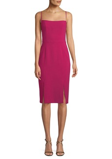 Black Halo Robinson Sheath Dress w/ Car Wash Hem