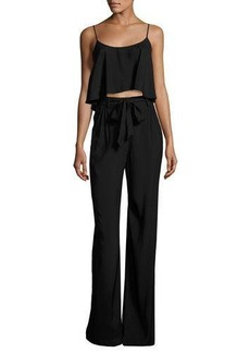 Black Halo Sleeveless Belted Jersey Popover Jumpsuit