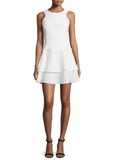 Black Halo Sleeveless Tiered-Skirt Dress
