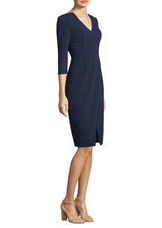 Black Halo V-Neck Sheath Dress