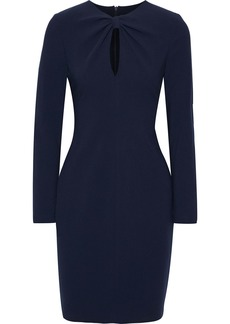 Black Halo Woman Aerin Cutout Knotted Cady Mini Dress Navy