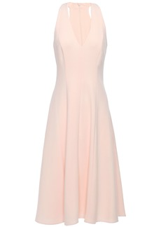 Black Halo Woman Gia Flared Crepe Dress Pastel Pink