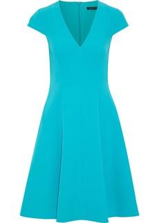 Black Halo Woman Kayley Flared Cady Dress Turquoise