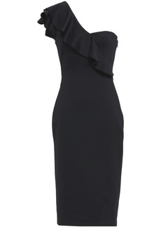 Black Halo Woman One-shoulder Neoprene Dress Black