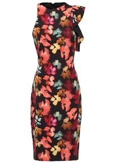 Black Halo Woman Pabla Ruffled Floral-print Crepe Dress Multicolor