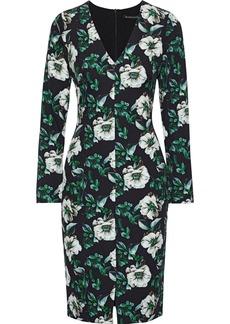 Black Halo Woman Sambora Floral-print Cady Dress Black