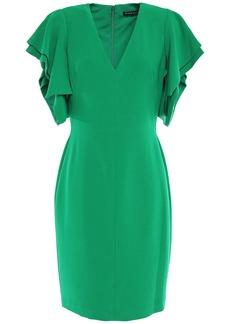 Black Halo Woman Simona Ruffled Crepe Mini Dress Green