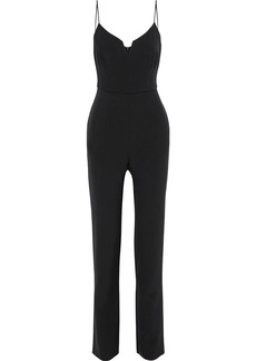Black Halo Woman Stretch-cady Jumpsuit Black