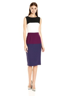 Black Halo Women's Berlin Color Block Sheath Dress
