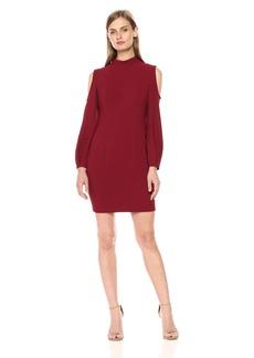 Black Halo Women's Boyd Cold Shoulder Mini Dress
