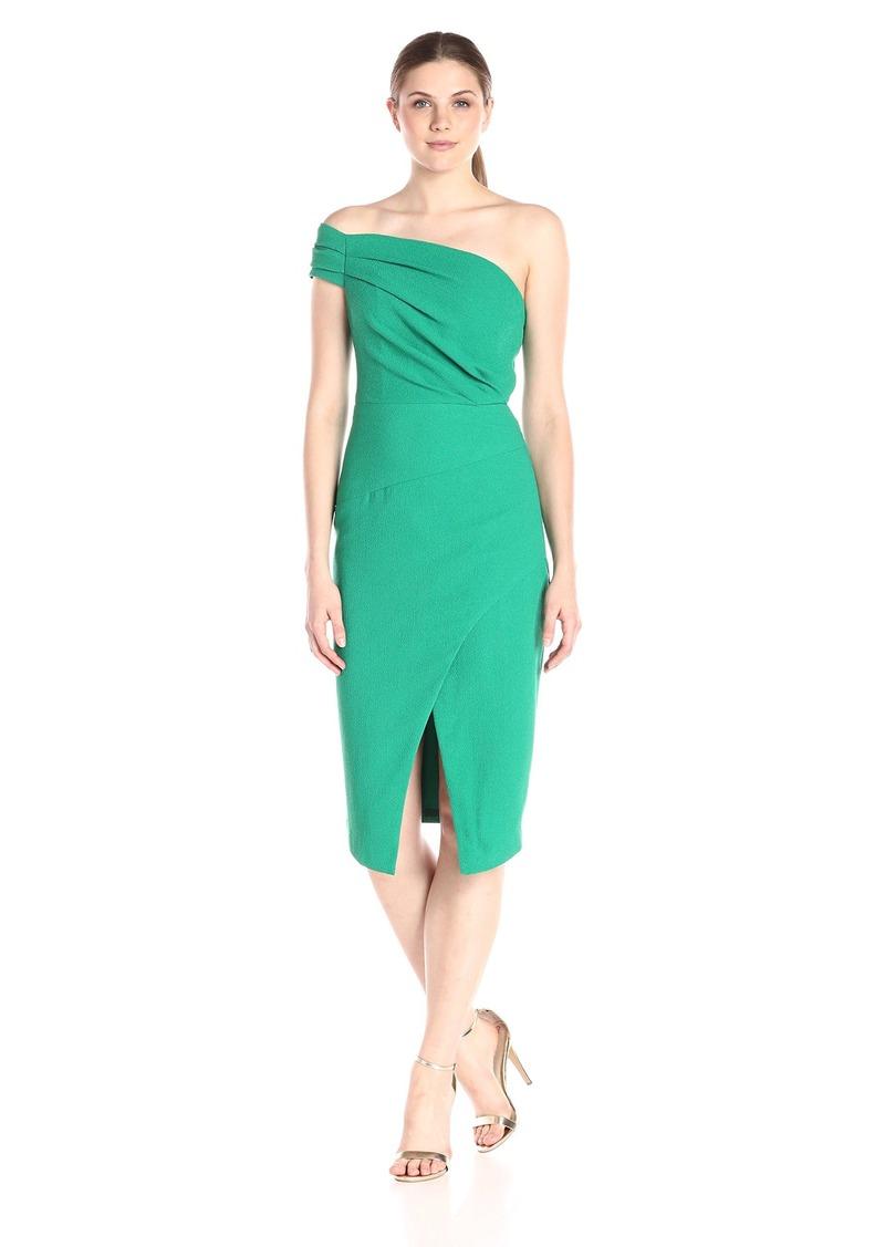 Black Halo Women's Cary One Shoulder Sheath Dress