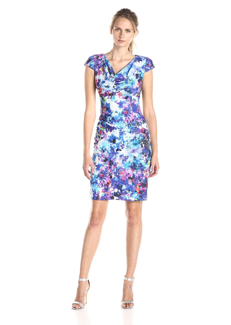 Black Halo Women's Gretchen Floral Sheath Dress