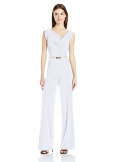 Black Halo Women's Jackie Belted Jumpsuit