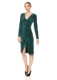 Black Halo Women's Miramar Velvet Sheath Dress