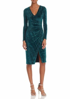 Black Halo Women's Miramar Velvet Sheath Dress