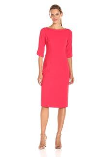 Black Halo Women's Nuelle 3/4 SLV Sheath Dress