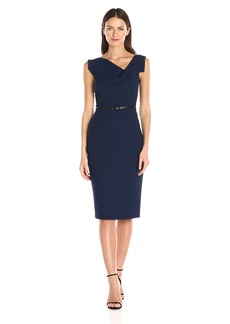 Black Halo Women's Pebble Crepe Jackie O Dress