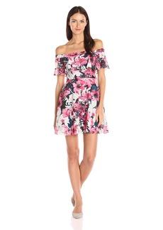 Black Halo Women's Penelope Floral Mini Dress