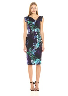 Black Halo Women's Printed Jackie O Sleeveless Dress