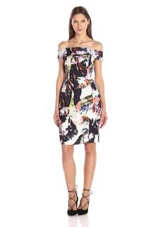 Black Halo Women's Soto Sheath Dress Print