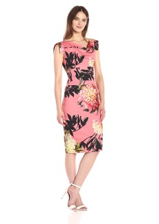 Black Halo Women's Tropical Print Jackie O Dress