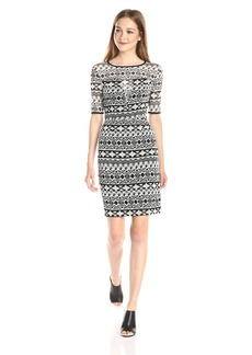 Black Halo Women's Weston Tribal  Sheath Dress
