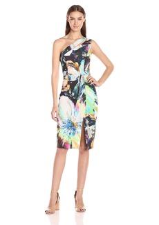 Black Halo Women's Yara One Shoulder Sheath Dress