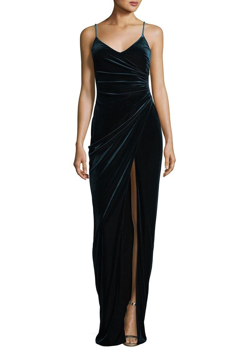 Black Halo Bowery Sleeveless V-Neck Velvet Evening Gown | Dresses