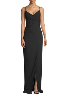 Black Halo Bowery V-Neck Gown