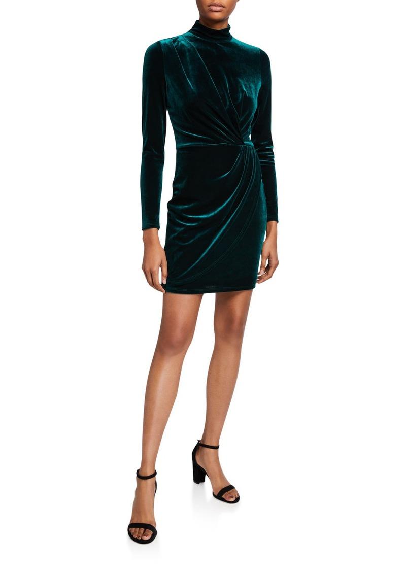 Briar Velvet Long-Sleeve Mini Dress
