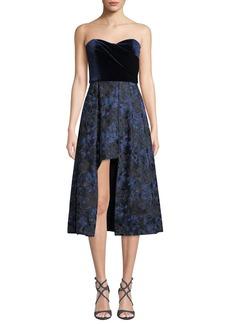 Black Halo Caine Strapless Velvet Dress