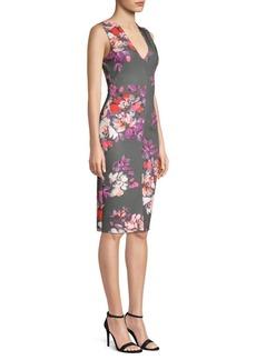 Black Halo Coral Sheath Dress