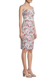 Black Halo Daria Floral Sheath Dress