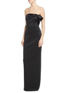 Black Halo Divina Strapless Column Gown