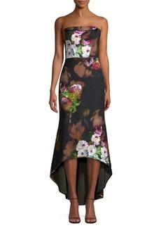 Black Halo Dylan Strapless Midi Dress