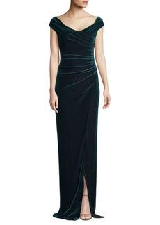 Black Halo Flora Velvet Gown