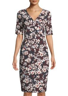 Black Halo Javette Floral Sheath Dress