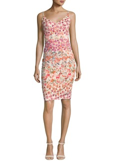 Black Halo Jevette Sleeveless Floral Sheath Dress  Multicolor