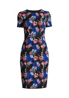 Black Halo Jodee Floral Sheath Dress