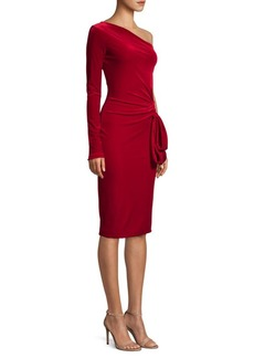 Black Halo Karima One Sleeve Sheath Dress