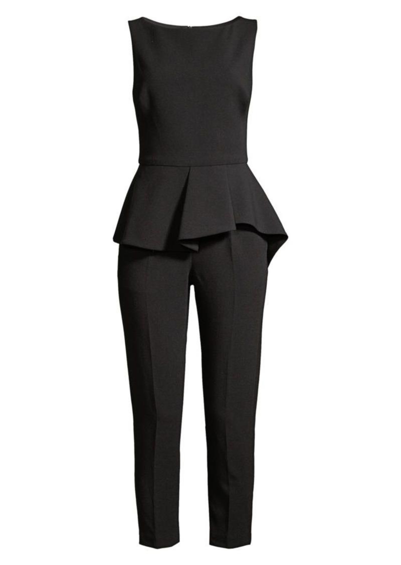 Black Halo Kasia Peplum Cropped Jumpsuit