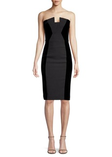 Black Halo Lena Side Panel Strapless Dress