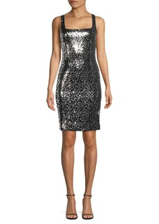 Black Halo Lilo Sequin Sheath Dress
