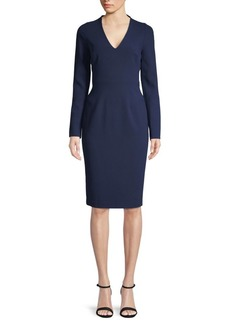 Black Halo Long-Sleeve Mindy Sheath Dress