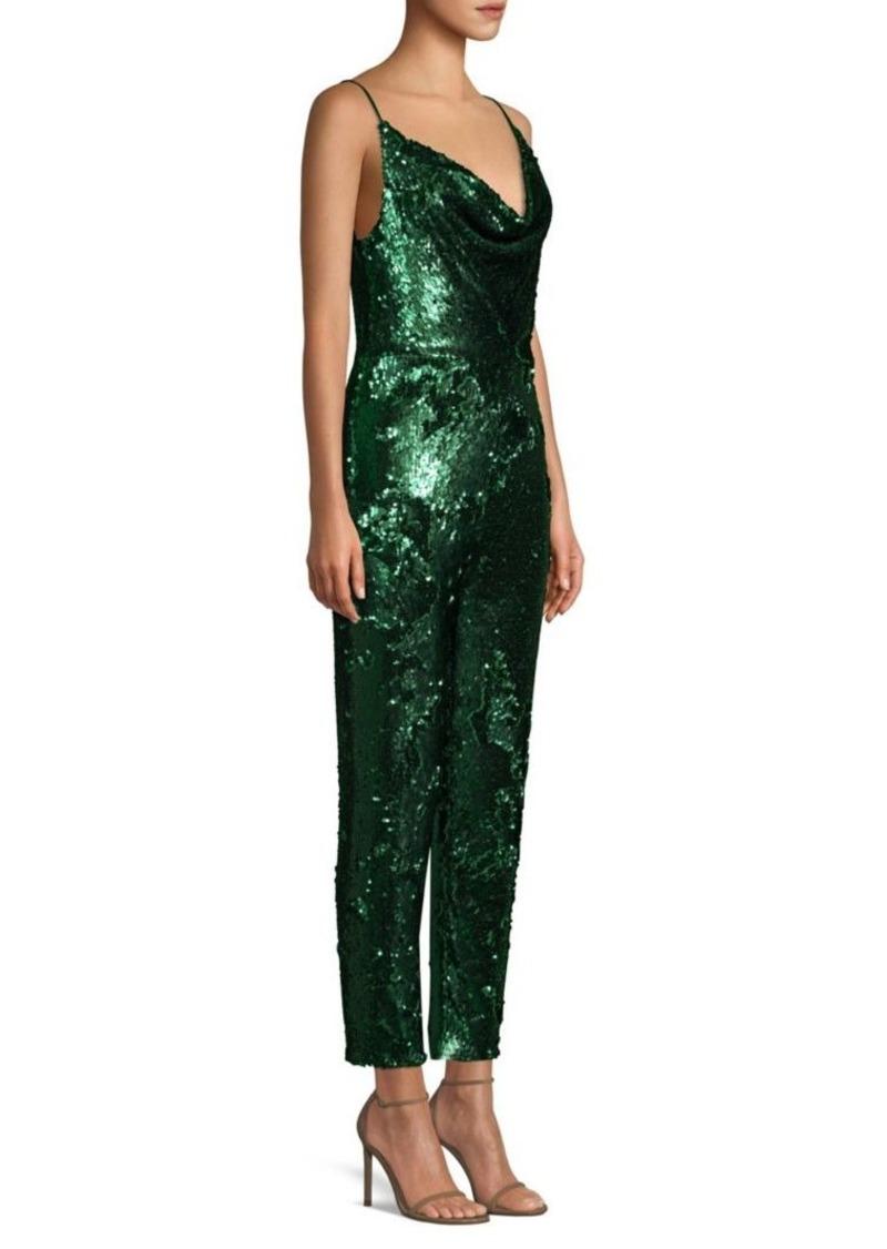 fc7519f7 Black Halo Lucy Sequin Jumpsuit Now $137.99