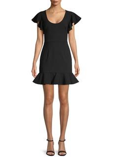 Black Halo Lynn Flounce Mini Dress