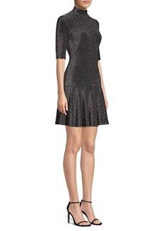 Black Halo Reeder Velvet Drop-Waist Mini Dress