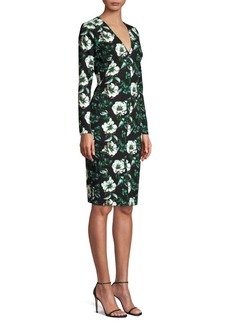 Black Halo Sambora Floral Sheath Dress