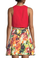 Black Halo Sanibel Two-Piece Printed-Skirt Set